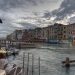 Grand canal from Rialto bridge in Venice, Italy — Stock fotografie
