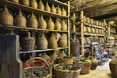 Wine cellar in monastery — Stock Photo
