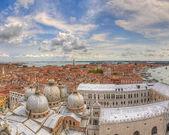 Vista aérea panorámica de venecia italia — Foto de Stock