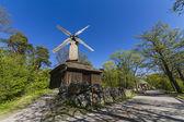 Molino de viento, skansen, st ockholm, suecia — Foto de Stock