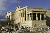 Caryatids in Erechtheum, Acropolis,Athens,Gr eece — Stock Photo
