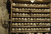 Skulls of the monks in Meteora monastery — Stock Photo