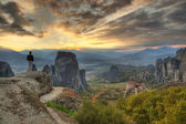 Panorama Meteora Greece — Stock Photo