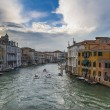 Grand canal from Rialto bridge in Venice, Italy — Stock Photo
