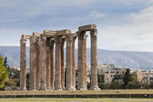 Ancient Temple of Olympian Zeus in Athens Greece — Stok fotoğraf