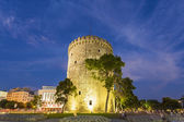 The white tower ,Thessaloniki city in Greece — Stock Photo