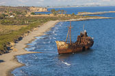 Shipwreck near Githeio,Greece — Stock Photo