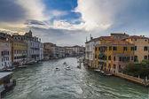 Grand canal from Rialto bridge in Venice, Italy — Stock Photo