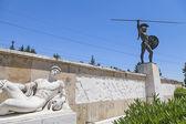 Leonidas statue, Thermopylae, Greece — Stock Photo