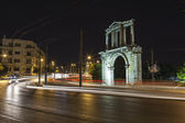Adrianou Gate by night in Athens Greece — Stock Photo