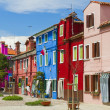 Burano island, colored houses,Italy — Stock Photo