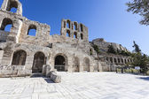Odeon of Herodes Atticus under Acropolis,Athens,Greece — Stock Photo