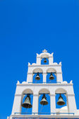 Traditional Greek white church in imerovigli village,Santorini,Greece — Fotografia Stock