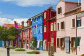 Burano island, colored houses,Italy — Stock Photo