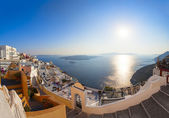 Panorama of Fira town, Santorini island,Greece — Stock Photo