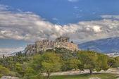 Acrópolis y partenón, atenas, grecia — Foto de Stock