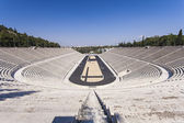 Panathenaic stadium or kallimarmaro in Athens (that hosted the first modern Olympic Games in 1896) — Stock Photo