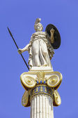 Athena statue in the academy of athens — Stock Photo