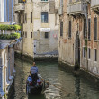 Venice canals and gondolas,Italy — 图库照片