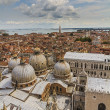 Panoramic aerial view of Venice Italy - Stock Photo