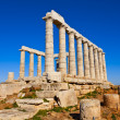 Poseidon Temple at Cape Sounion near Athens, Greece - Stock Photo