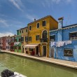 Burano island in Venice  — Stock Photo
