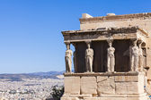Caryatids in Erechtheum, Acropolis,Athens,Greece — Stock Photo