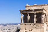 Caryatids in Erechtheum, Acropolis,Athens,Greece — Stock Photo
