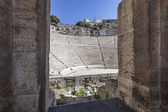 Odeon of Herodes Atticus under Acropolis in Athens,Greece — Stock Photo