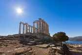Poseidon Temple at Cape Sounion near Athens, Greece — Foto Stock