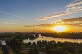 Sunset in belgrade,Serbia,pan oramic view — Stock Photo