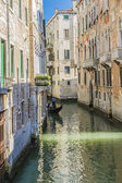 Venice canals and gondolas,Italy — Stock Photo