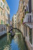 Venice canals and gondolas,Italy — Stock Photo