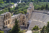 Odeon of Herodes Atticus view from Acropolis in Athens,Greece — Stock Photo