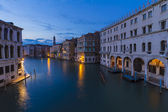 Grand canal,view from Rialto bridge in Venice, Italy — Stock Photo
