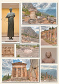 Collage of monuments in Athens — Stock Photo