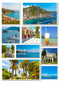 Collage of photos from Corfu in Greece — Stock Photo