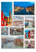 Collage Venedig resor bilder — Stockfoto
