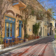 Traditional houses at Plaka area,Athens,Greece — Stock Photo