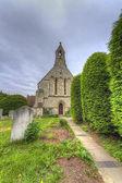 Cemetery with old gravestones — Stock Photo