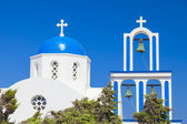 Orthodox church at Santorini island,Greece — Stock Photo