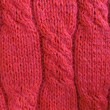 Red knit sweater close-up — Stock Photo