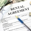 Rental agreement, close-up — Stock Photo