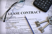 Lease contract, close-up — Stock Photo