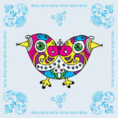 Love Bird Decorative Card — Vetorial Stock