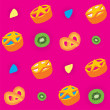 Royalty-Free Stock Vector Image: Biscuits Bright Seamless Pattern