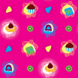 Stock Vector: Candies Bright Seamless Pattern