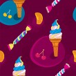 Royalty-Free Stock Vector Image: Ice Cream Seamless Pattern With Candy and Fruits