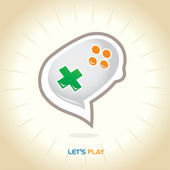 Joystick chat symbool — Stockvector