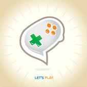 Joystick chatt symbol — Stockvektor